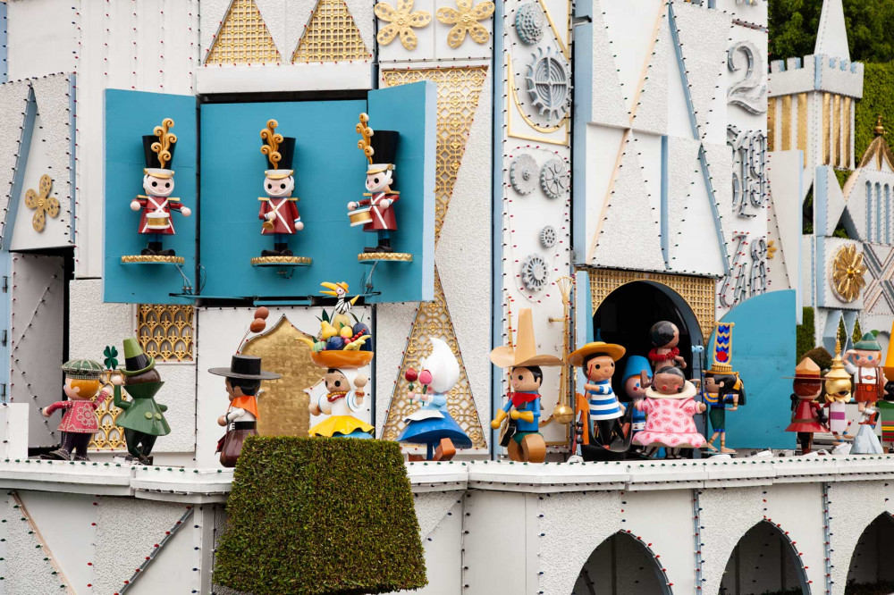 Exterior or it's a small world ride at Disneyland