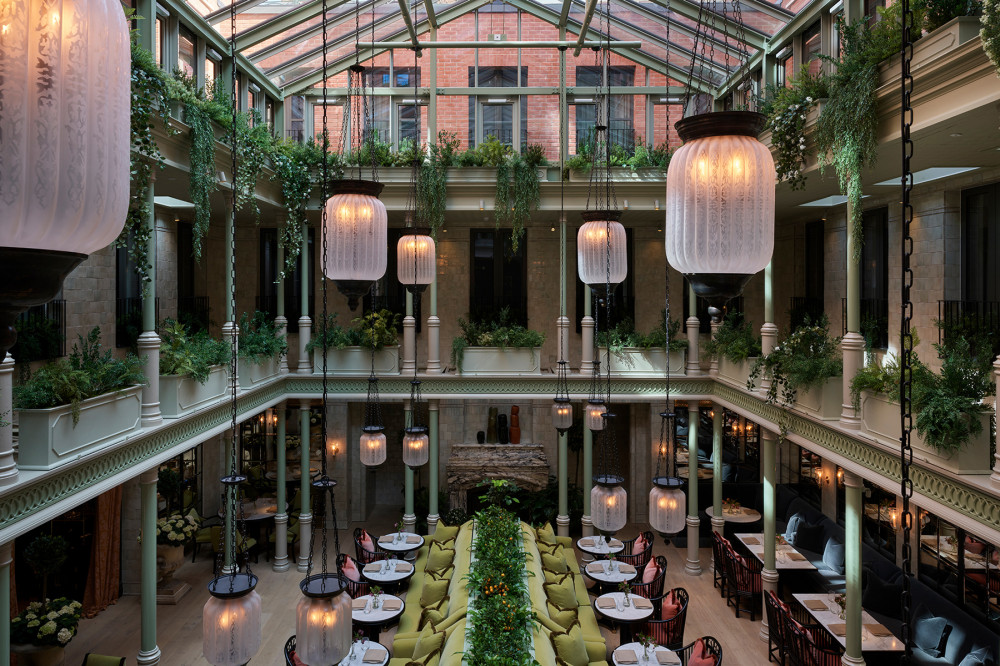 Aerial view of the Atrium at NoMad London
