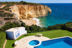 Look Out at Caves and Waves From the Pool of This Clifftop Airbnb in Portugal